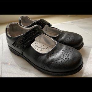 Pediped black leather Flex Mary Janes